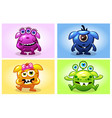 cartoon collection four cute babies vector image vector image