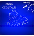 christmas card background with snowflake and vector image