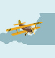 color model an old plane flying in sky vector image vector image