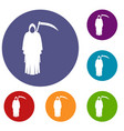 death with scythe icons set vector image vector image