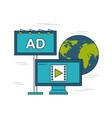 digital marketing images vector image vector image