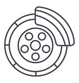 Disc brakecar service line icon sign
