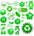 eco friendly elements vector image vector image