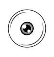 eye icon in minimal design vector image vector image