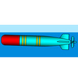 Fighting torpedo icon vector image vector image