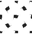 flag pattern seamless black vector image