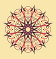 floral round decorative symbol ethnic decorative vector image vector image