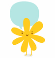 Flower character vector image vector image