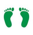 footprint icon human foot prints vector image vector image