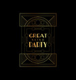 great retro party elegant vector image vector image