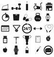 gym set black icon on white vector image vector image