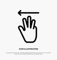 hand hand cursor up left line icon vector image vector image