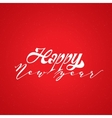 Happy new year 2017 lettering calligraphy style vector image