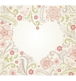 Heart shape frame vector image