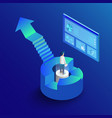 isometric 3d business infographic with diagrams vector image