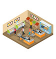 isometric grocery shop concept vector image vector image
