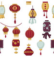 lanterns of eastern and oriental style seamless vector image vector image