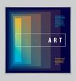 minimalistic cover brochure design geometric vector image