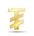 mongolian tugrik currency symbol vector image vector image