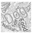 natural dog food canadian Word Cloud Concept vector image vector image