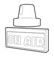 On air sign icon isometric 3d style vector image vector image