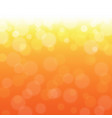 orange bokeh vector image vector image