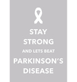 parkinsons disease poster vector image vector image