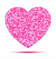 Pink Heart Pixel icon vector image vector image
