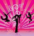 pink red dance people vector image vector image