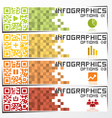 QR Code Infographics Banner Background Design vector image vector image