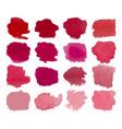 red blots watercolor set vector image vector image