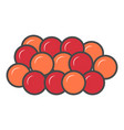 red caviar isolated icon vector image vector image