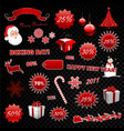 red christmas boxing day element design collection vector image