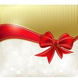 Red ribbon on the color background vector image vector image