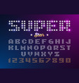 retro disco style font made of stars super star vector image