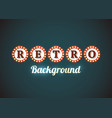 retro sign background vector image vector image