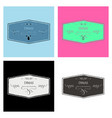 retro vintage insignias or logotypes set with vector image
