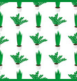seamless creative pattern potted home plants vector image vector image