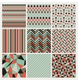 seamless geometric hipster background set vector image vector image