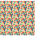 Seamless pattern based on geometric shapes vector image vector image