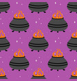 seamless pattern with pot of potion vector image