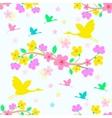 seamless sakura blossom background vector image