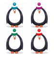 set of flat penguin vector image vector image