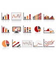 Simple color financial management reports icon vector | Price: 1 Credit (USD $1)