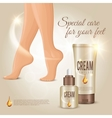 special care for feet concept vector image