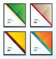 Striped triangle template design set vector image