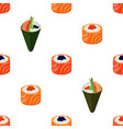 sushi types - rolls temaki seamless pattern vector image vector image