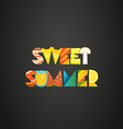 sweet summer concept color letters vector image vector image