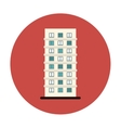 symbol apartment building line sticker vector image vector image