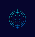 target audience potential client icon linear vector image vector image